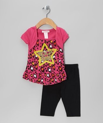 Fuchsia 'Rock Star' Tunic & Leggings - Infant & Toddler