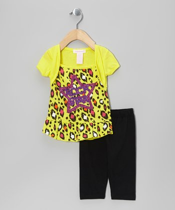 Yellow 'Rock Star' Tunic & Leggings - Infant & Toddler