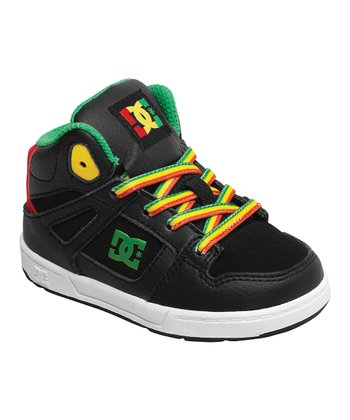 Black & Yellow Rebound Hi-Top Sneaker