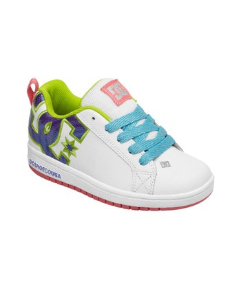 White & Light Blue Court Graffik SE Sneaker
