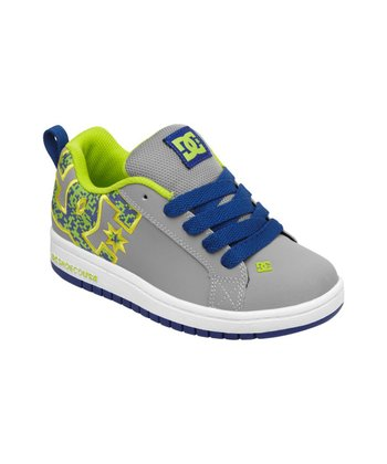 Gray & Blue Court Graffik SE Sneaker