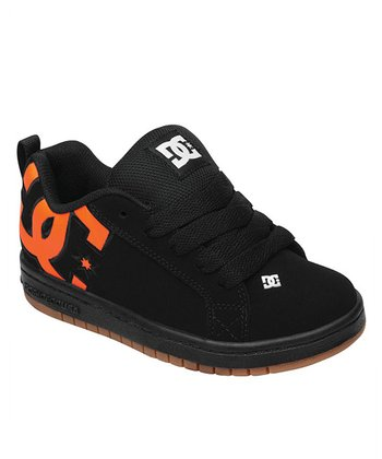 Black & Orange Court Graffik SE Sneaker