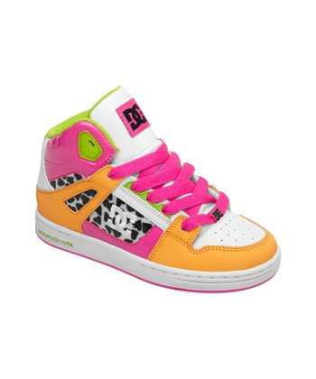 Fuchsia & Orange Rebound SE Hi-Top Sneaker