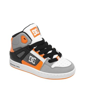 Gray & Orange Rebound SE Hi-Top Sneaker