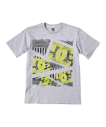 Heather Gray Dropper Tee - Boys