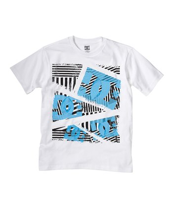 White Dropper Tee - Toddler & Boys