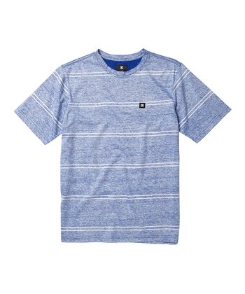 Blue Hawkland Stripe Tee - Boys