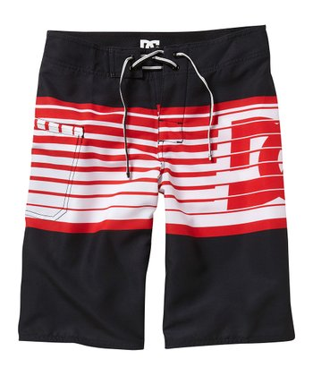 Black Stripe Lyman Boardshorts - Boys