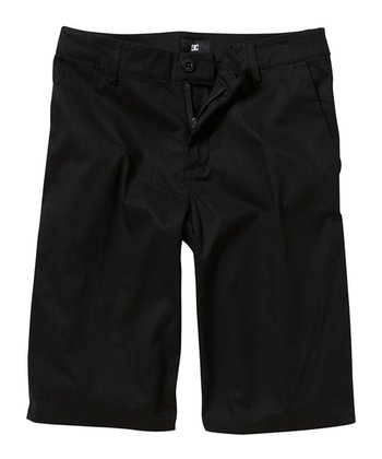 Black Chino Shorts - Boys