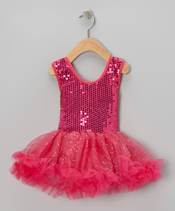 Fuchsia Sequin Pettidress - Infant