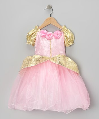 Pink & Gold Fairy-Tale Dress - Toddler & Girls