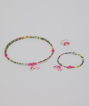 Bugle Bead Necklace & Bracelet Set