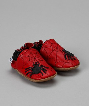 Wuggie Bear Red Spidey Soft Sole Shoe
