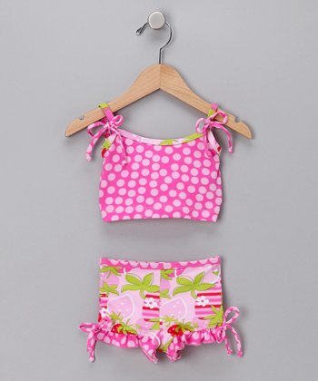 Strawberry Fields Bikini - Toddler & Girls