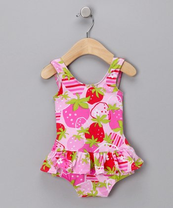 Strawberry Fields Skirted One-Piece Swimsuit - Infant