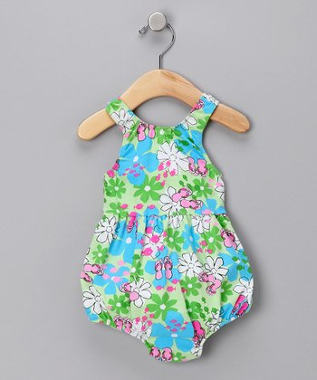 Flip-Flop Floral Bubble One-Piece Swimsuit - Infant