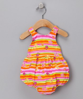 Ladybug Stripe Bubble One-Piece Swimsuit - Infant