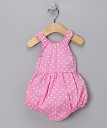 Pink Polka Dot Bubble One-Piece Swimsuit - Infant