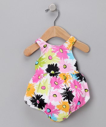 Pop Art Poppies Bubble One-Piece Swimsuit - Infant