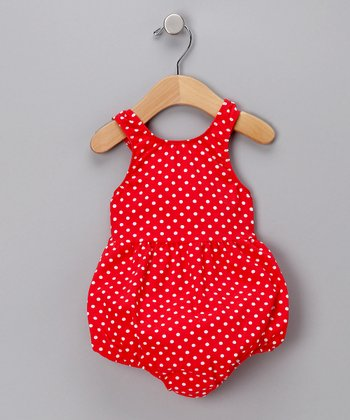 Red Polka Dot Bubble One-Piece Swimsuit - Infant