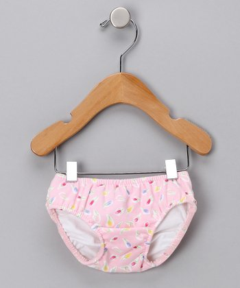 Pink Tulip Swim Diaper - Infant