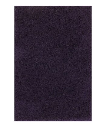 Navy Plush Shag Rug