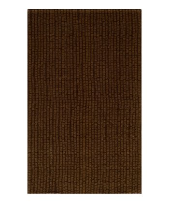 Brown Row Wool Rug