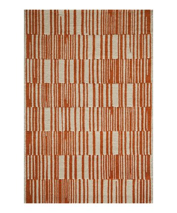 Orange Kedzie Wool Rug