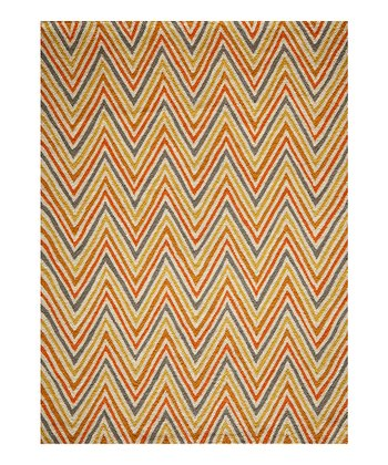 Orange Zigzag Rug