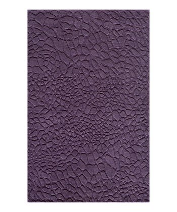 Purple Pebble Wool Rug