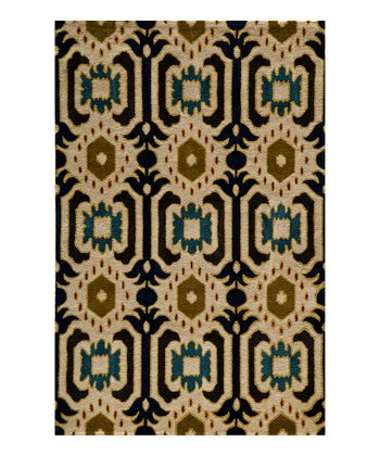 Black & Gold Edmund Wool Rug