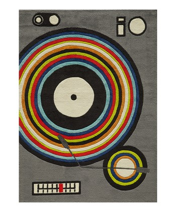 Gray Turntable Rug