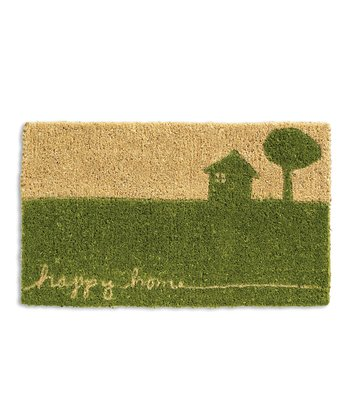 Green 'Happy Home' Doormat