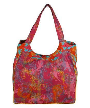 Pink & Red Koi Scroll Tote Bag
