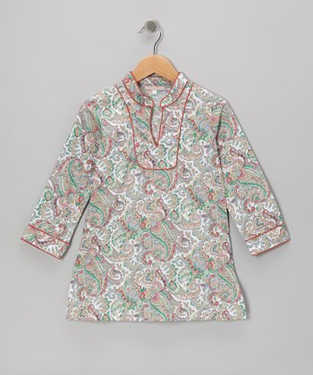 Green Paisley Tunic - Toddler & Girls