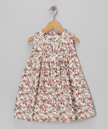 Maroon Floral Swing Dress - Toddler & Girls