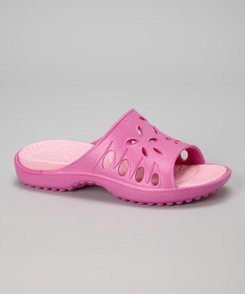 NothinZ Pink & Light Pink Caribbean Slide - Women