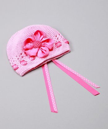 Light Pink Fancy Flower Hat