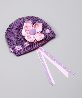 Purple & Pink Fancy Flower Hat