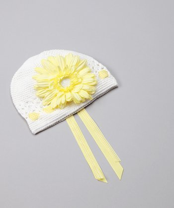White & Yellow Gingham Garden Hat