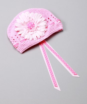 Light Pink Polka Dot Party Hat
