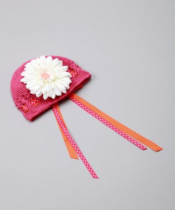 Pink & Orange Polka Dot Party Hat