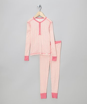 Pink Candy Stripe Pajama Set - Infant, Toddler & Girls