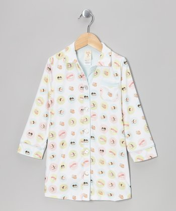 White Sushi Classic Nightgown - Toddler & Girls
