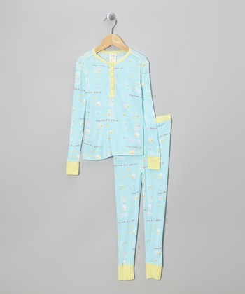 Blue Fireflies Pajama Set - Toddler & Girls