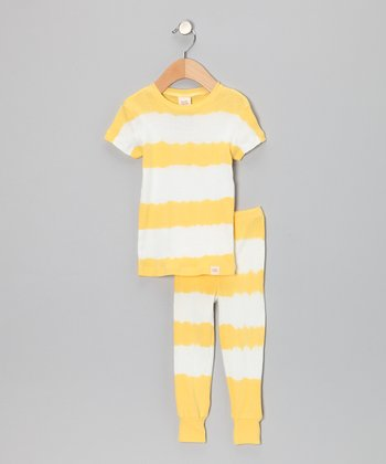 Yellow Stripe Pajama Set - Toddler & Kids