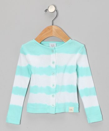 Blue Tie-Dye Stripe Cardigan - Infant, Toddler & Girls