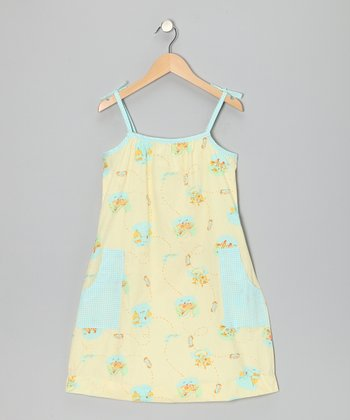Yellow Roadtrip Pocket Tie Dress - Toddler & Girls
