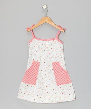 White Tulip Pocket Tie Dress - Toddler & Girls