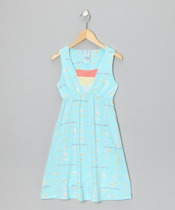 Blue Firefly Tank Dress - Girls